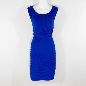 Calvin Klein blue bandage sheath stretch dress